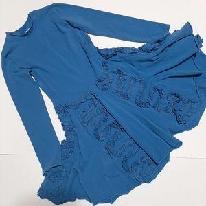 Eliane et Lena Little Girls' Blue Roza dress 10